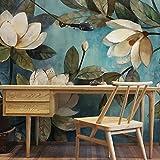 3D Murales Papel Pintado Pared Calcomanías Decoraciones Dormitorio De Entrada De Telón De Fondo Retro Flores Europeas Art º Chicas Tv (W)250X(H)175Cm