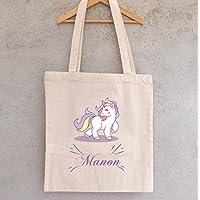 Tote Bag Licorne à personnaliser - sac licorne à personnaliser - sac shopping - sac de course - sac personnalisé - tote bag personnalisé