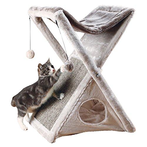 Trixie Pet Products Miguel zusammenklappen und Aufbewahren Cat Tower (Tower Cat Plüsch)