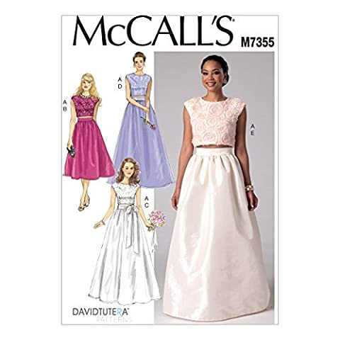 McCall's Patterns M7355 Misses' Crop Top and Gathered Skirts, Size E5 (14-16-18-20-22) by McCall's Patterns