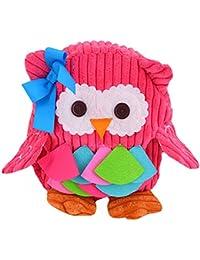 Preisvergleich für Milya Kinderrucksäcke Taschen Vorschule Rucksack Snack Paket Rosa Blau Eule Muster
