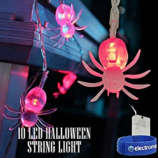 QTX light Halloween LED Battery String Fairy Lights Scary Spiders Spooky Decorations