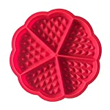 Leisial 2Set 17.5*1.5CM Rote Waffelform Silikon Waffeln Backform/Mini Backblech Formen Waffel-Maker Silikonbackform