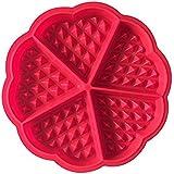 CAOLATOR Silicona Moldes 5 Forma de Corazón Molde Pastel Cumpleaños Recién Nacido DIY Práctico Herramienta Chocolate / Pudín / Jelly/ Vela Aromaterapia / Jabón de Mano Molde