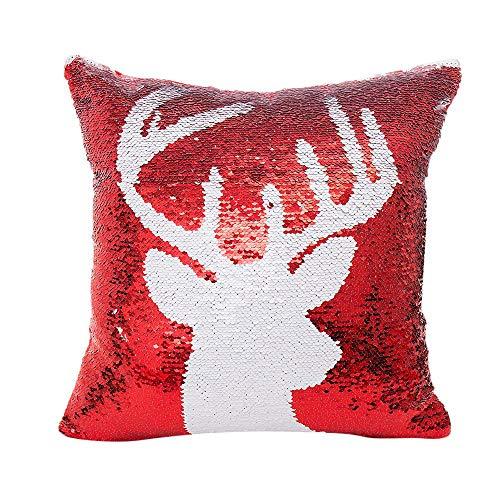 Leedy throw pillow covers, merry christmas colore glitter paillettes federa coperture per decorazioni natalizie, cuscino casi per divano party auto decor, 45,7cm, cotone lino, d, medium