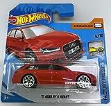 Hot Wheels 2018 '17 Audi RS 6 Avant Red 5/10 Factory Fresh 271/365 (Short Card)