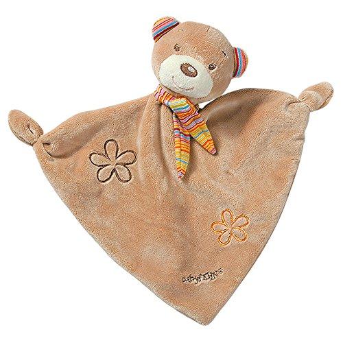 Fehn 160307 Schmusetuch Teddy - Schnuffeltuch mit Teddy-Köpfchen zum Greifen, Fühlen, Knuddeln und Liebhaben für Babys und Kleinkinder ab 0+ Monaten