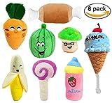 LDXY robust mit Plüsch Spielzeug Kauen, Hunde, quietscht, Spielzeug, niedlich, für Obst und Gemüse, Design Plüsch-Spielzeug, für Welpen, kleine Hunde und Katzen