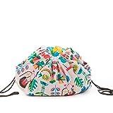 SLEEPAA Playclean coperta da gioco 140x105 cm Tappeto Sacco per giocattoli con corde Cameretta bambino Made in Spain Jungle Rock