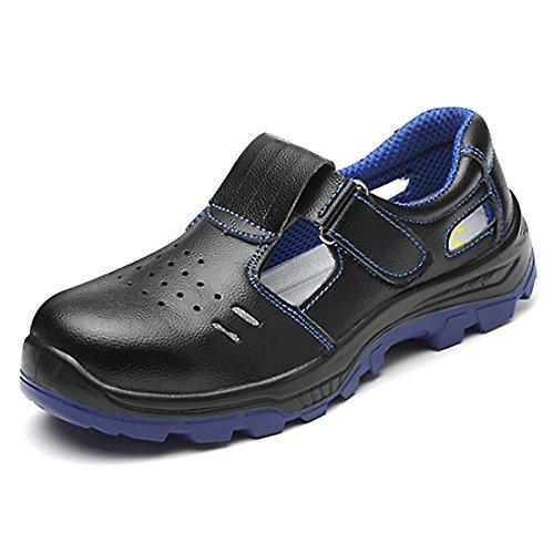 CHNHIRA Homme Femmes Chaussures Sécurité Antidérapage Chantiers Chaussure de Travail Unisexes Semelle de Protection