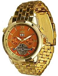 Lindberg & Sons Reloj Automático piraeus Acero/naranja/oro Colores