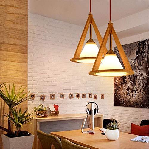 Nordic vintage kreative holz pendelleuchten tuch lampenschirm massivholz fram kegelform retro leuchten für restaurant 25 * 30 cm