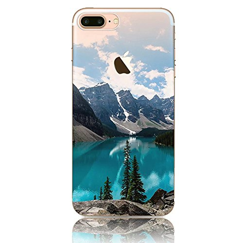 iPhone 7 Plus Hülle, Vandot Malerei Painting Case Cover für iPhone 7 Plus Natur Design Landscape Landschaft Schutzhülle aus TPU Silikon Muster Pattern Abdeckung Telefonkasten Ultra Dünn Leicht Soft Ha Color 13