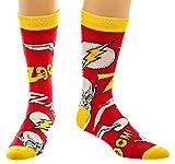 DC cr3gwidco Comics Flash Logotipo y carácter tripulación calcetines (talla única)