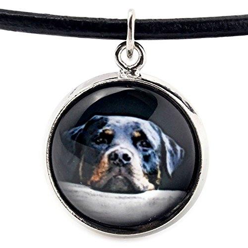 ArtDog Ltd. Rottweiler, Halskette für Menschen, die Hunde lieben, Foto-Schmuck, Handgefertigt