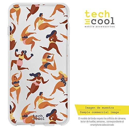 Funnytech® Funda Silicona para Xiaomi Redmi Note 6 / Note 6 Pro [Gel Silicona Flexible, Diseño Exclusivo] Patron Mujeres Belleza Femenina Version 1 Fondo Transparente