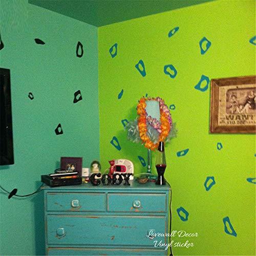 zzlfn3lv Leopard Cheetah Animal Print Wand Auto Laptop Aufkleber Fuß Aufkleber Kind Kinderzimmer Wohnzimmer Vinyl Home Decor56cmx46cm -