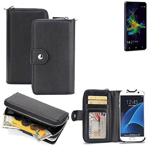 K-S-Trade 2in1 Handyhülle für Allview P8 Energy Mini hochwertige Schutzhülle & Portemonnee Tasche Handytasche Etui Geldbörse Wallet Case Hülle schwarz