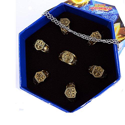 Cosplay Kostüm Ring Set Legierung Halskette Zubehör für Manga Kleidung Pendant Schmuck Gifts Kollektion Box