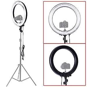 """Neewer® Flash Fluorescente a Forma di Anello per Fotocamera, Camera Photo/Video 18"""" Outer 14"""" Inner 600W 5500K Ring Fluorescent Flash Light"""