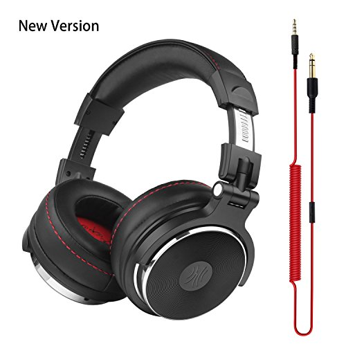 OneOdio DJ Kopfhörer, Studiokopfhörer, Over-Ear Headset mit Mikrofon, Adapter-frei Geschlossener Headphone 6,3mm & 3,5 mm Stereo/Studio Monitor & - Geschlossen Over-ear-kopfhörer