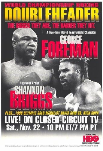 george-foreman-vs-shannon-briggs-poster-11-x-17-inches-28cm-x-44cm-1997-style-a