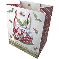 Borsa regalo di natale con Christmas Pudding, design di Abigail Mill