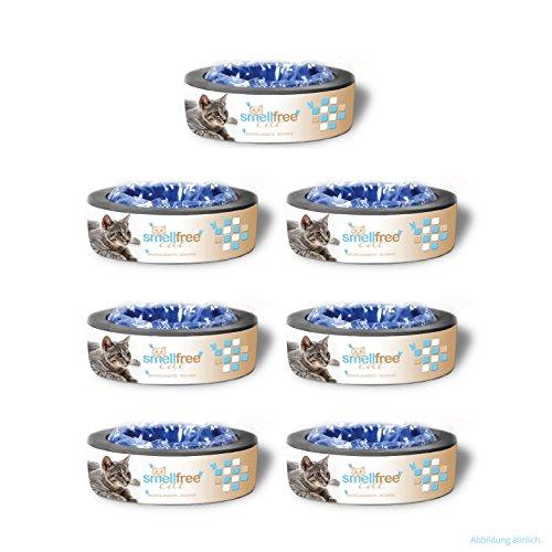Smellfree Cat für Litter Locker II Nachfüllkassetten (7er Pack) - Extra reißfeste Spezialfolie mit Gersuchsbarriere