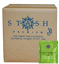 Stash Tea Fusion Breakfast Green & Black Tea, 100 Count Box of Tea Bags in Foil