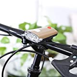 #7: Schrödinger10051 Bicycle Cycle Light Front Headlight with Horn USB Rechargeable