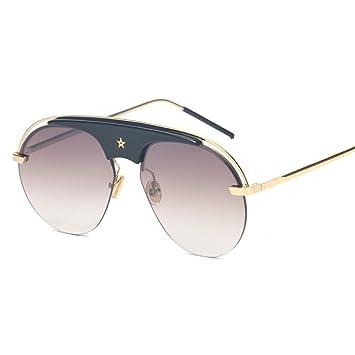 WKAIJC Männer Und Frauen Mode Freizeit Persönlichkeit Komfort Eleganz Kreativität Piloten Reflektierende Sonnenbrille,A