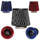 SODIAL(R) filtro aria universale sportivo aspirazione conico biconico 76 - 130mm auto