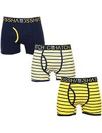 Crosshatch Homme 'Grillis' Pack de 3 Boxer à carreaux