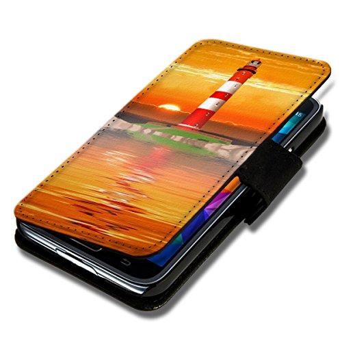 Book Style Flip Handy Tasche Case Schutz Hülle Schale Motiv Foto Etui für LG L Fino - Flip BV6 Design2