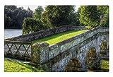 iRocket - Tappeto/Tappetino per Interni – Bridge Stourhead Gardens (60 x 40 cm)
