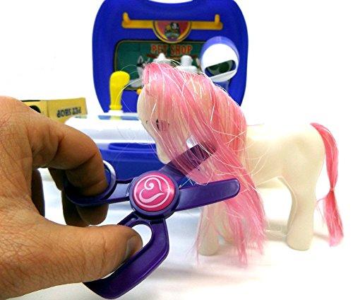 Brigamo 561 – Spielzeug Frisiersalon für Kuscheltiere – To go Spielzeugset Frisiertisch - 5