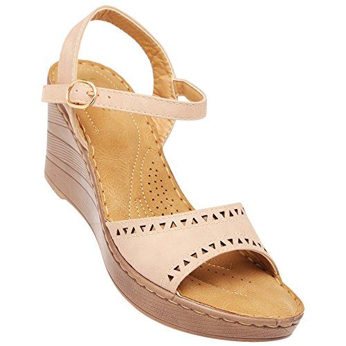 Life By Shoppers Stop Womens Casual Wear Buckle Closure Wedges