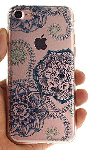 Nnopbeclik [Coque Iphone 7 Silicone ]Transparente élégant Style de Impression Couleur Motif Doux Backcover Case Housse pour Iphone 7 Coque Apple (4.7 Pouce) Protection Antiglisse Anti-Scratch Etui - [ dentelle6