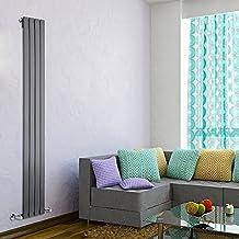 Milano Hudson Reed - Radiador de Diseño Vertical - Antracita - 1780mm x 280mm x 47mm