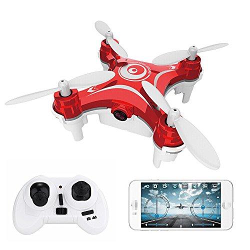Preisvergleich Produktbild FQ777- 954 Mini-Drohne WIFI FPV mit 0.3MP Kamera 4CH 6 Achse MINI RC Quadcopter RTF unterstützt Samsung Android / iOS-App-Control Mit Transmitter (rot)