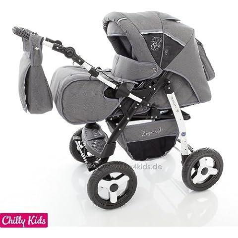 Chilly Kids Jaguar 2 en 1 Cochecito Combinado (cubierta de la lluvia, mosquitero 07 colores)