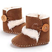 Princer Baby First Walking Snow Shoes,for 0~18 Month Kids, Baby Girl Fashion Cute Warm Soft Sole Snow Boots