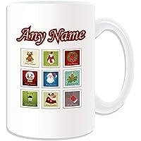 Regalo personalizzato–Set di timbri di Natale grande tazza, motivo: Buon