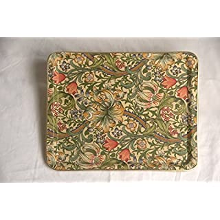 Quality Fibreglass Tray in an Exclusive William Morris Golden Lily Design. Medium size
