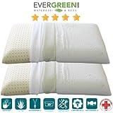 EvergreenWeb par cojines 100% Memory 70x 40h 12cm Jabón para Cervical tela ALOE VERA