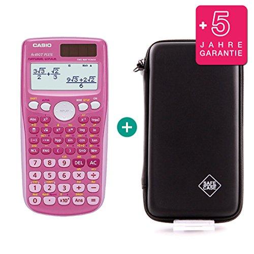 Casio FX 85 GT Plus Pink + Schutztasche + Erweiterte Garantie