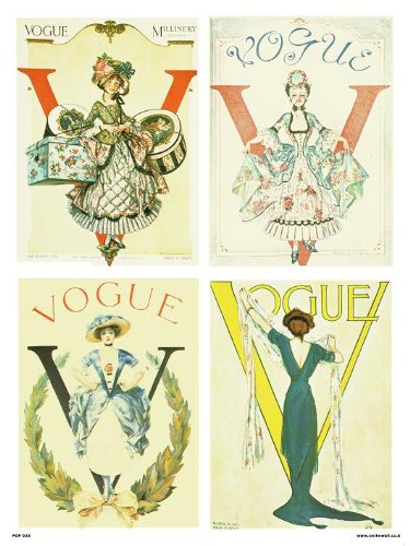 Vintage Vogue-covers (onthewall Vogue Vintage-Covers - Pop Art Poster Druck Multi Mode (PDP 023))