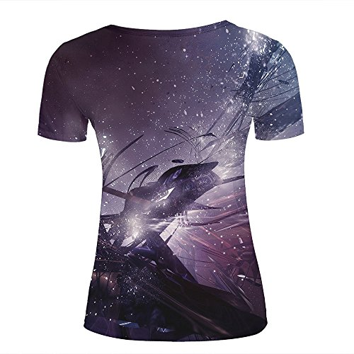 Mens 3D Printed Purple Abstract Art Graphic Couple T-Shirts D