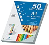 Dohe 30103 - Pack de 50 cartulinas, A4, color granito