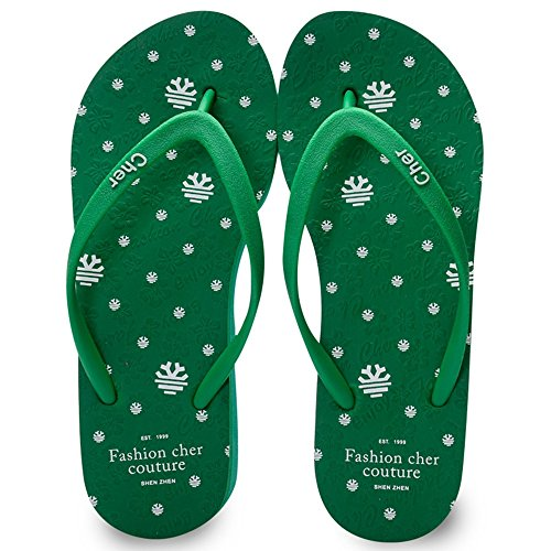 Cailin Sandals, Chaussons en caoutchouc pour femmes Chaussons en Europe Chaussures de plage antidérapantes Blanc Bleu Vert Rose ( Couleur : Blanc , taille : EU37/UK4-4.5/CN37 ) Vert